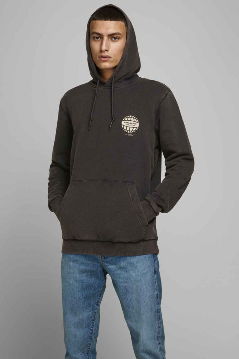 CORE BY JACK & JONES Sweaters met kap zwart 12175293_BLACK img1