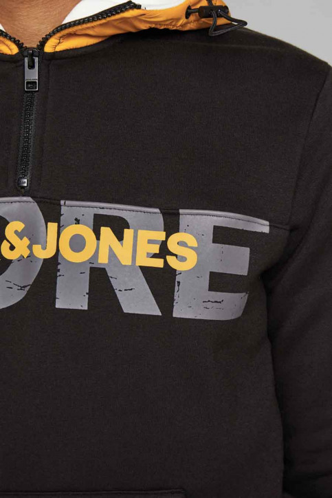 CORE BY JACK & JONES Truien met kap zwart 12175295_BLACK img5