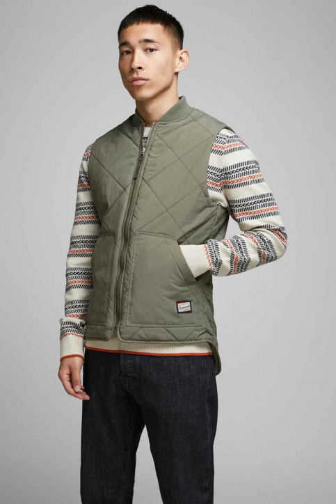 ORIGINALS BY JACK & JONES Bodywarmers groen 12175366_DUSTY OLIVE img1