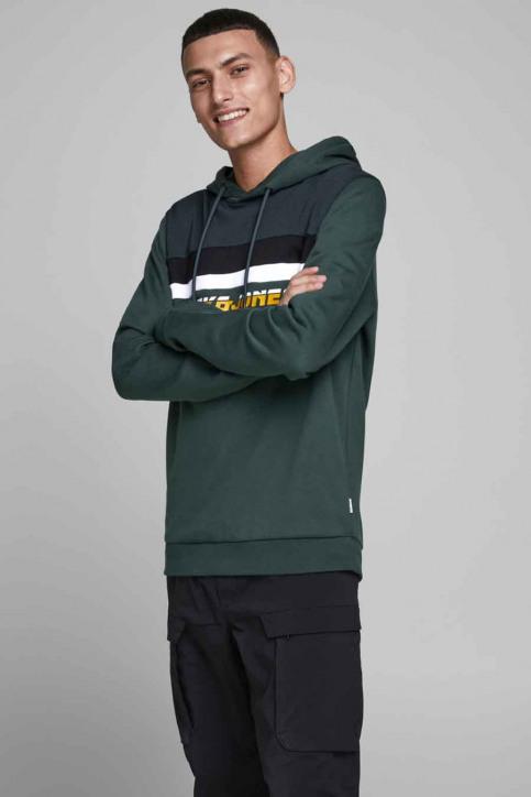 CORE BY JACK & JONES Sweaters met kap groen 12175563_DARKEST SPRUCE img1