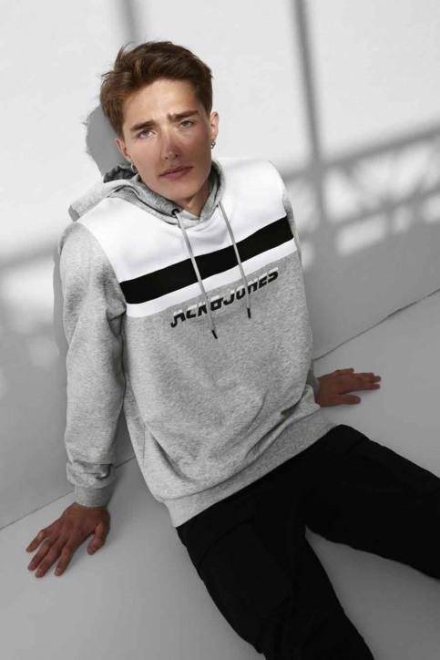 CORE BY JACK & JONES Sweaters met kap grijs 12175563_LIGHT GREY MELA img6