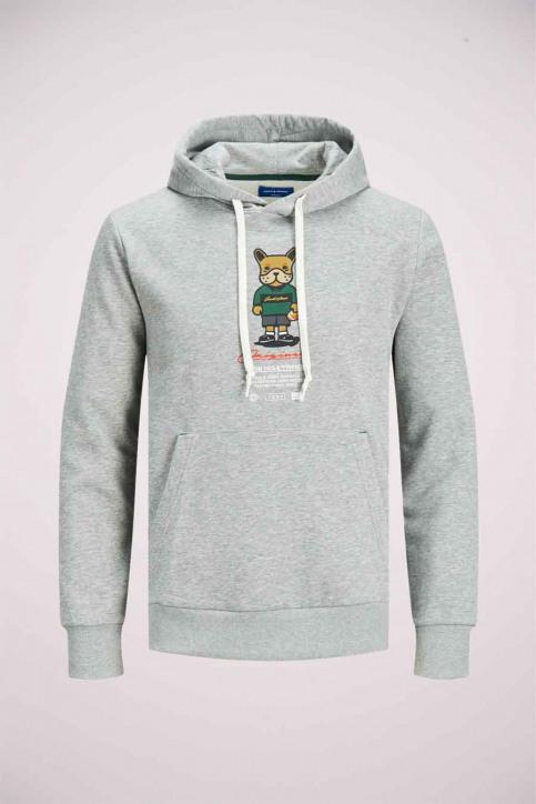 ORIGINALS BY JACK & JONES Sweaters met kap grijs 12176722_LIGHT GREY MELA img1