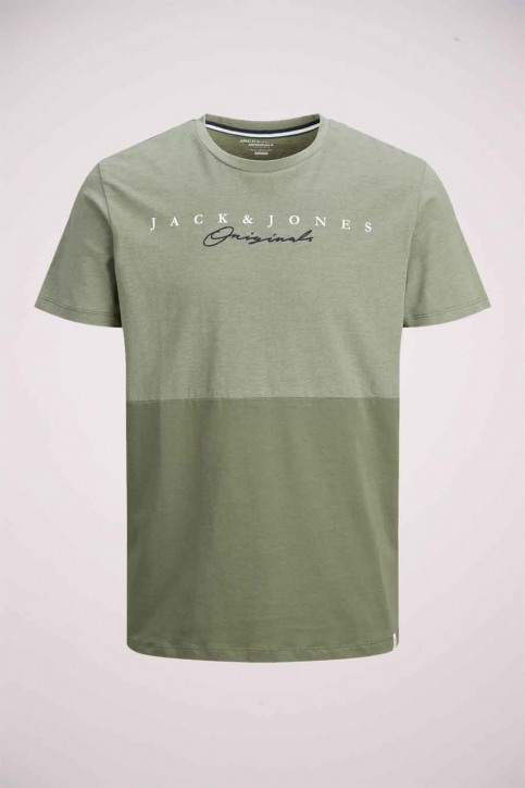 ORIGINALS BY JACK & JONES T-shirts (manches courtes) vert 12176731_DUSTY OLIVE img1