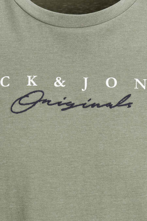 ORIGINALS BY JACK & JONES T-shirts (manches courtes) vert 12176731_DUSTY OLIVE img4
