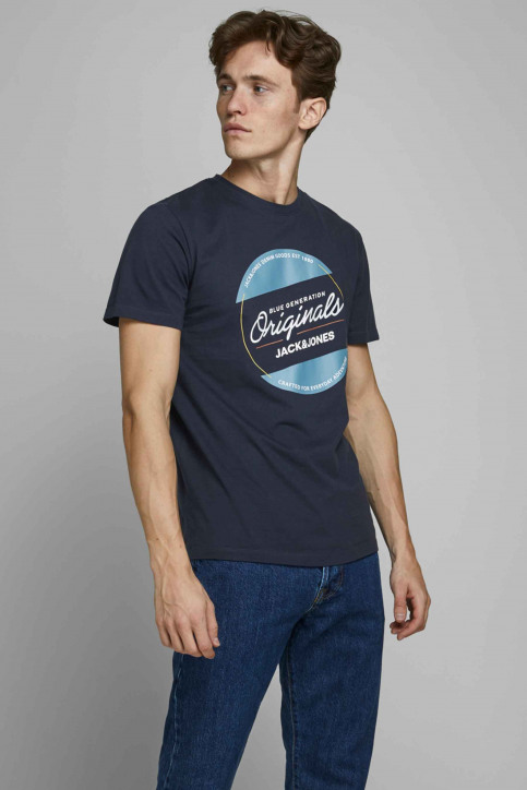ORIGINALS BY JACK & JONES T-shirts (manches courtes) bleu 12176768_NAVY BLAZER REG img1