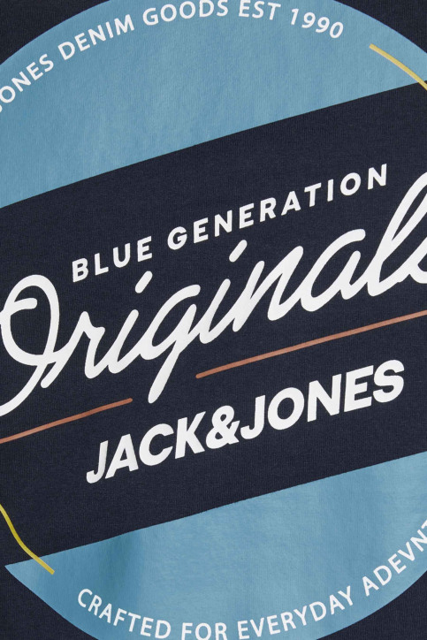 ORIGINALS BY JACK & JONES T-shirts (manches courtes) bleu 12176768_NAVY BLAZER REG img3