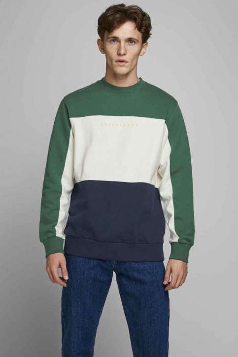 ORIGINALS BY JACK & JONES Sweaters met ronde hals groen 12176810_TREKKING GREEN img1