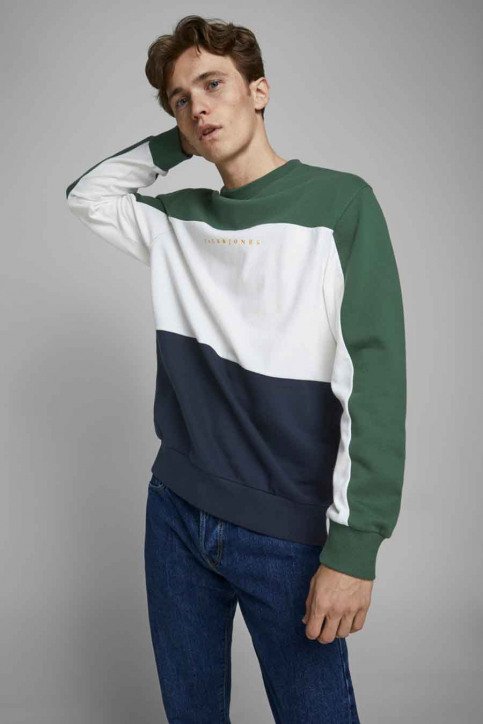 ORIGINALS BY JACK & JONES Sweaters met ronde hals groen 12176810_TREKKING GREEN img2