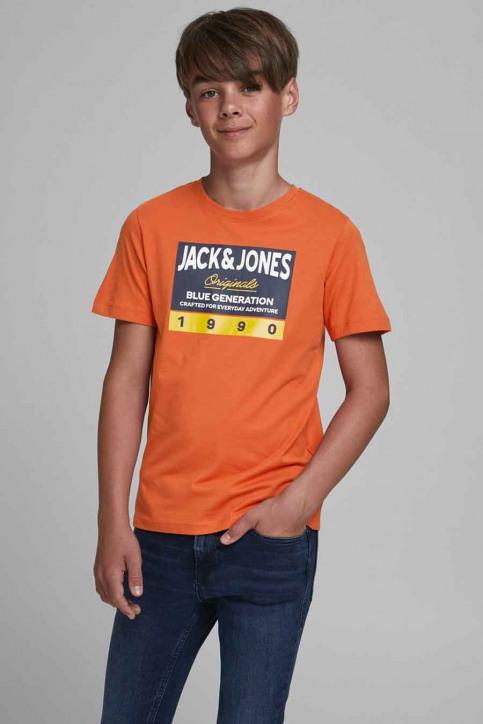 J & J Kids T-shirts manches courtes orange 12176887_BURNT OCHRE img1