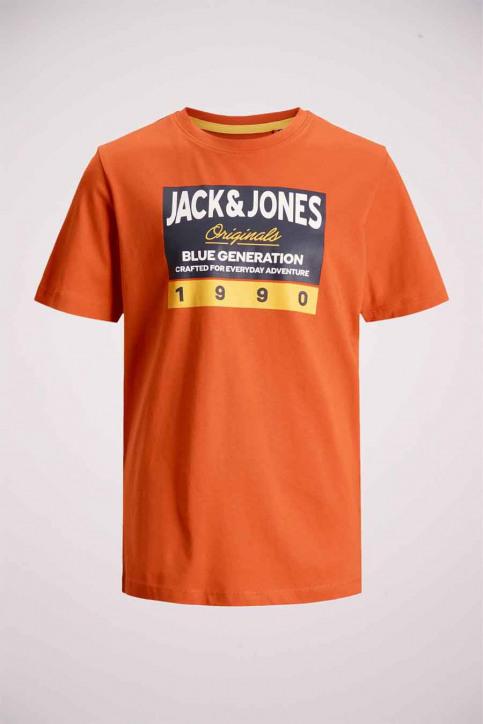 J & J Kids T-shirts manches courtes orange 12176887_BURNT OCHRE img7