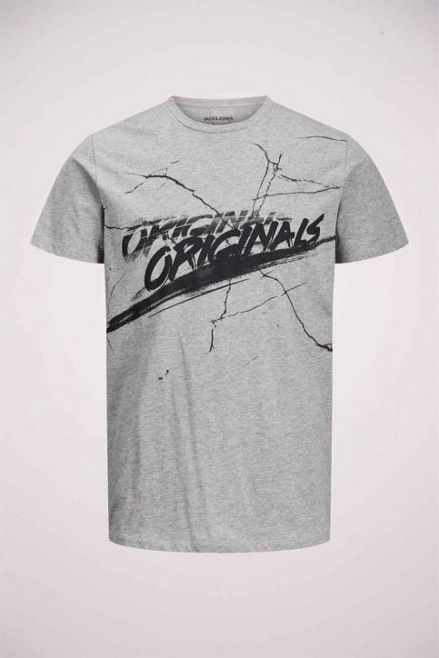 ORIGINALS BY JACK & JONES T-shirts (korte mouwen) grijs 12177286_LIGHT GREY MELA img4