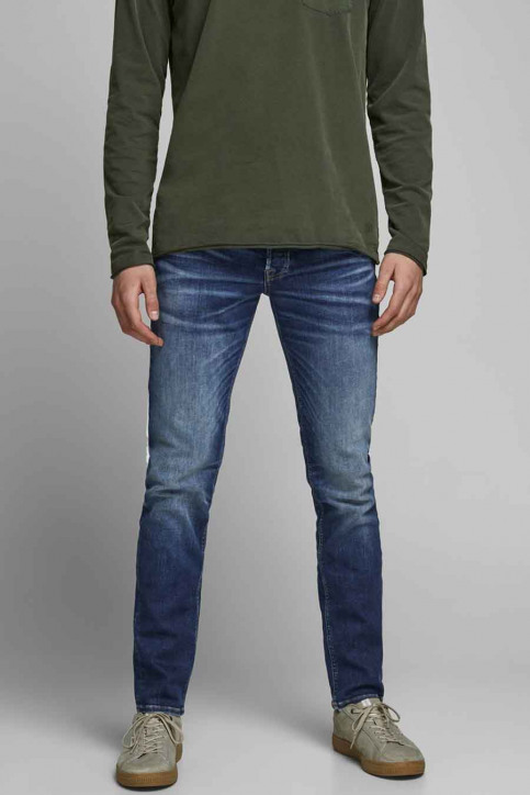 JACK & JONES JEANS INTELLIGENC Jeans tapered denim 12178859_JOS2036 MID BLU img1