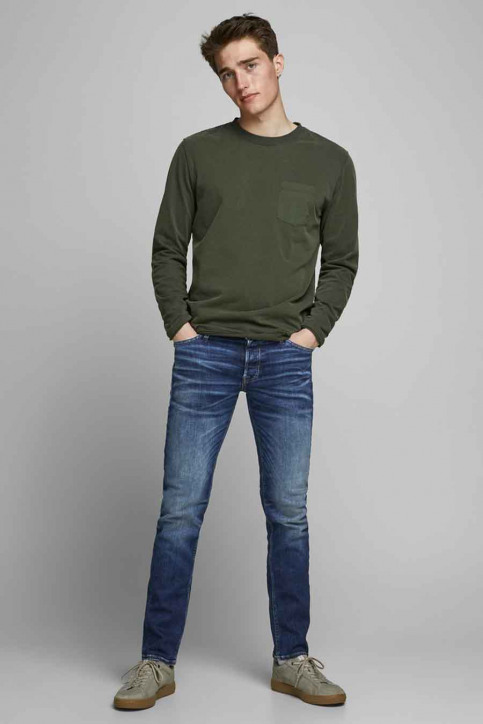 JACK & JONES JEANS INTELLIGENC Jeans tapered denim 12178859_JOS2036 MID BLU img2