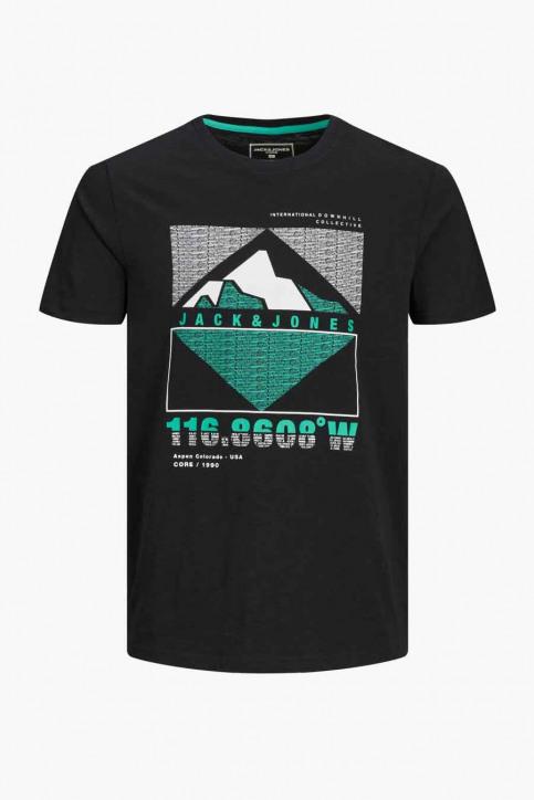 CORE BY JACK & JONES T-shirts (korte mouwen) zwart 12181841_BLACK SL GIBS T img1