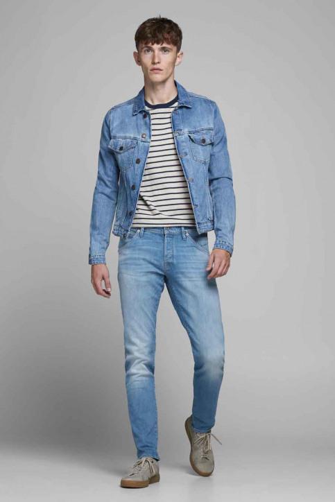 JACK & JONES JEANS INTELLIGENC Jeans slim denim 12182208_BLUE DENIM img2