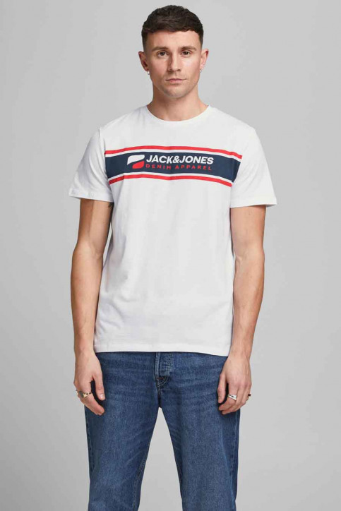 CORE BY JACK & JONES T-shirts (korte mouwen) wit 12182326_BRIGHT WHITE RE img2