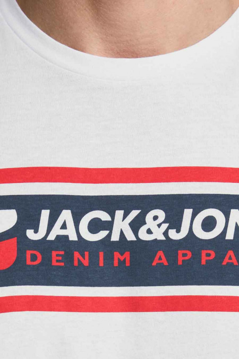 CORE BY JACK & JONES T-shirts (korte mouwen) wit 12182326_BRIGHT WHITE RE img4