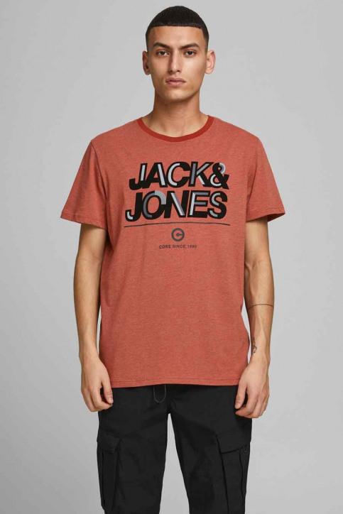 CORE BY JACK & JONES T-shirts (korte mouwen) rood 12185101_RED OCHRE SLIM img1