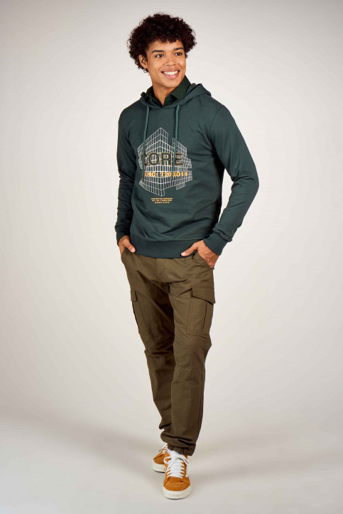 CORE BY JACK & JONES Sweaters met kap groen 12190271_DARKEST SPRUCE img1