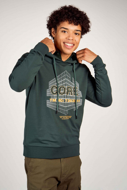 CORE BY JACK & JONES Sweaters met kap groen 12190271_DARKEST SPRUCE img2