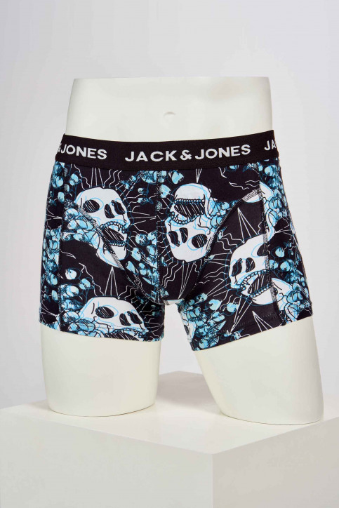 ACCESSORIES BY JACK & JONES Boxers noir 12191942_BLACK AOP BLUES img1