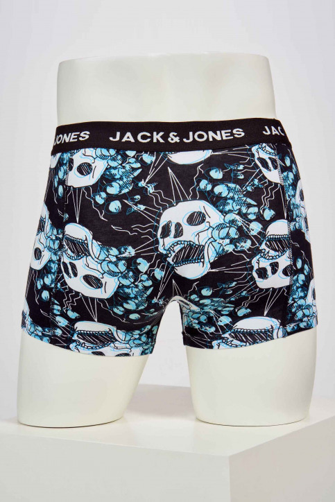 ACCESSORIES BY JACK & JONES Boxers noir 12191942_BLACK AOP BLUES img2