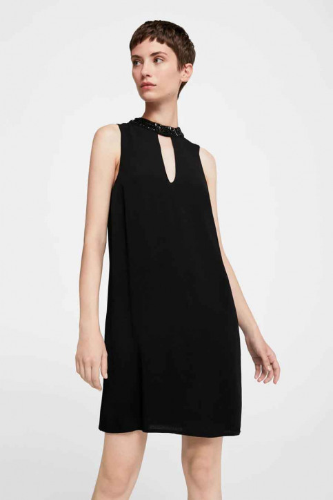 MANGO Robes courtes noir 13075013_MNG_17_BLACK img1