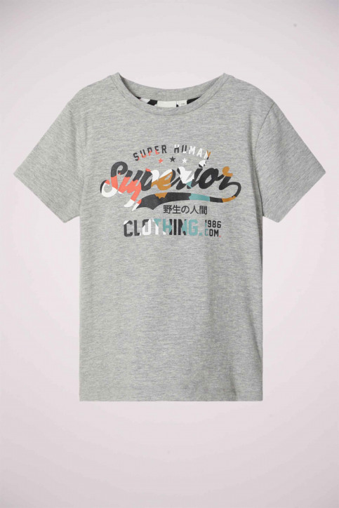 NAME IT T-shirts manches courtes gris 13179726_GREY MELANGE img1