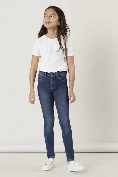 NAME IT Girls jeans jeans skinny blauw 13181025_DARK BLUE DENIM img1