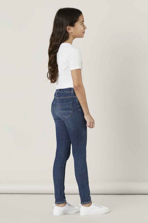 NAME IT Girls jeans jeans skinny blauw 13181025_DARK BLUE DENIM img2