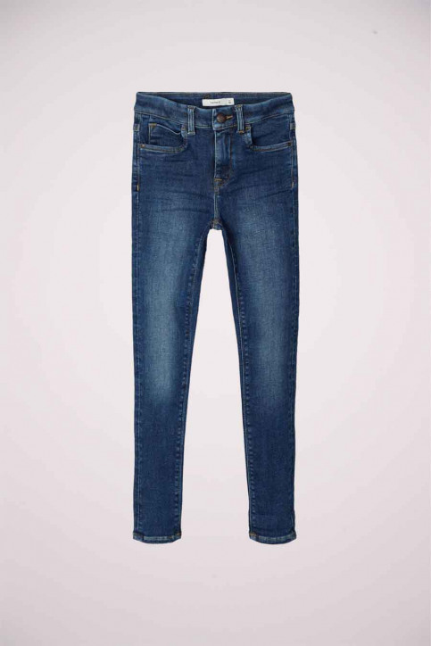 NAME IT Girls jeans jeans skinny blauw 13181025_DARK BLUE DENIM img3