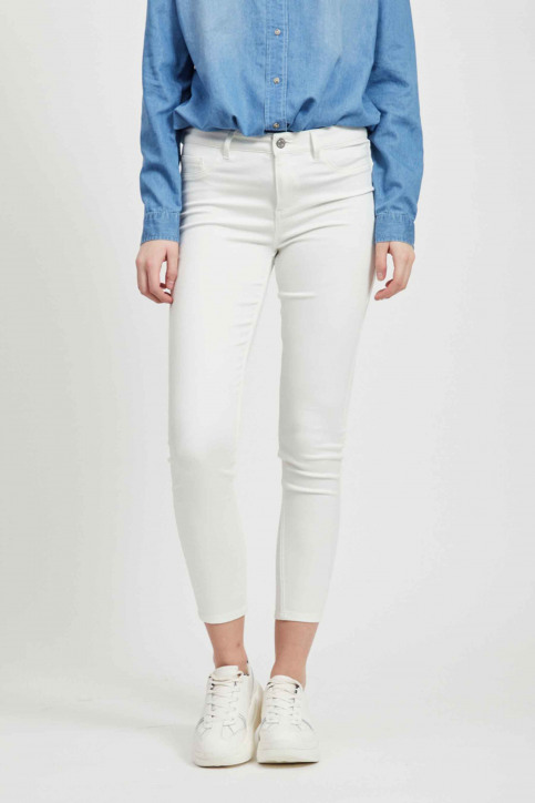 VILA Jeans skinny wit 14032799_OPTICAL SNOW img1