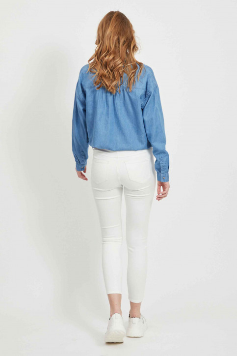 VILA Jeans skinny wit 14032799_OPTICAL SNOW img3