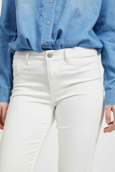 VILA Jeans skinny blanc 14032799_OPTICAL SNOW img4