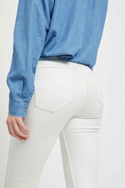 VILA Jeans skinny blanc 14032799_OPTICAL SNOW img5