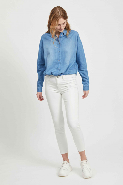 VILA Jeans skinny wit 14032799_OPTICAL SNOW img6