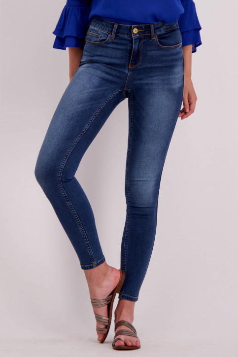 VILA Jeans slim denim 14046287_DARK BLUE DENIM img1
