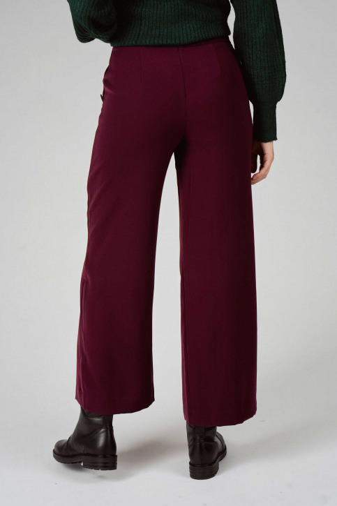 VILA Pantalons rouge 14048646_WINETASTING img3