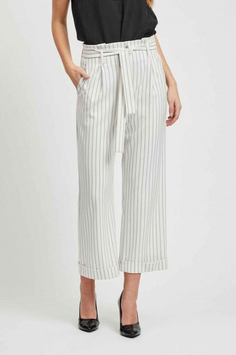 VILA Pantalons colorés blanc 14050442_CLOUD DANCER img1