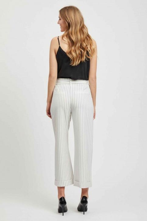 VILA Pantalons colorés blanc 14050442_CLOUD DANCER img3