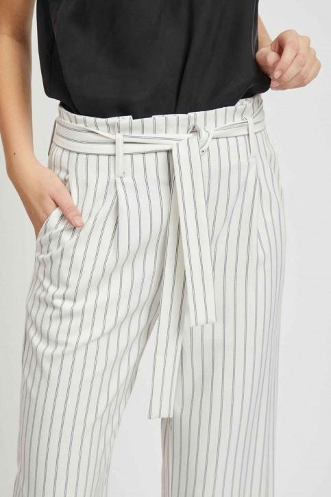 VILA Pantalons colorés blanc 14050442_CLOUD DANCER img4