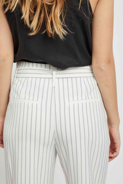 VILA Pantalons colorés blanc 14050442_CLOUD DANCER img5