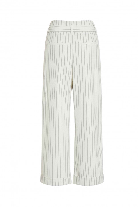 VILA Pantalons colorés blanc 14050442_CLOUD DANCER img9