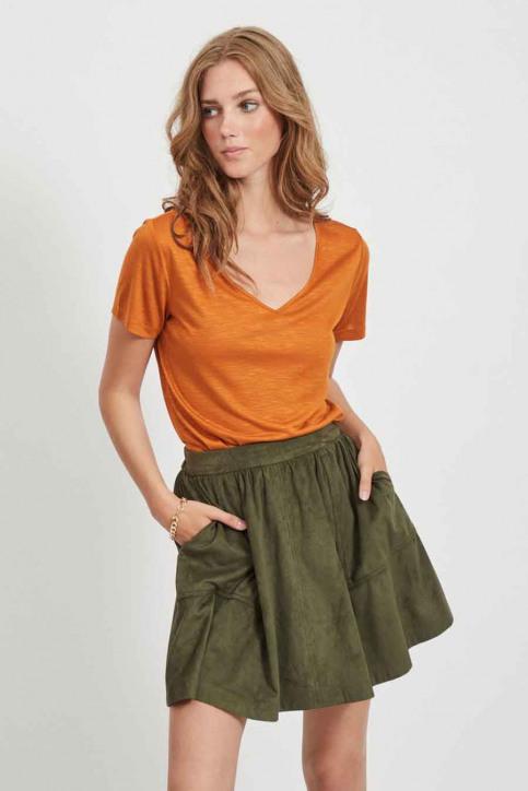 VILA® Tops (korte mouwen) oranje 14050576_PUMPKIN SPICE img1