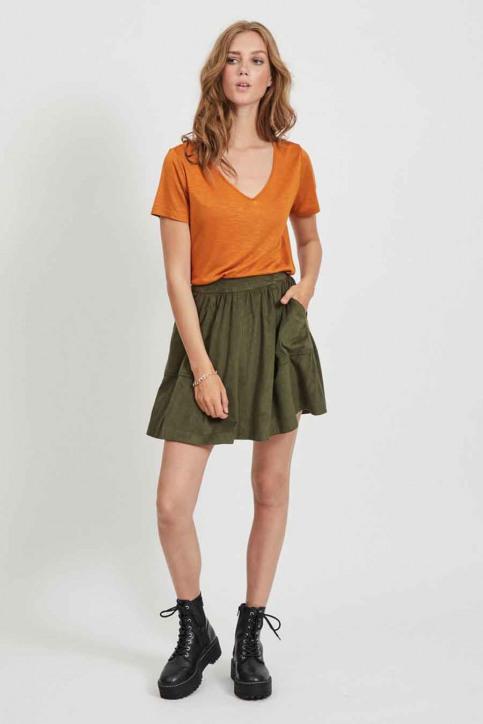 VILA® Tops (korte mouwen) oranje 14050576_PUMPKIN SPICE img2