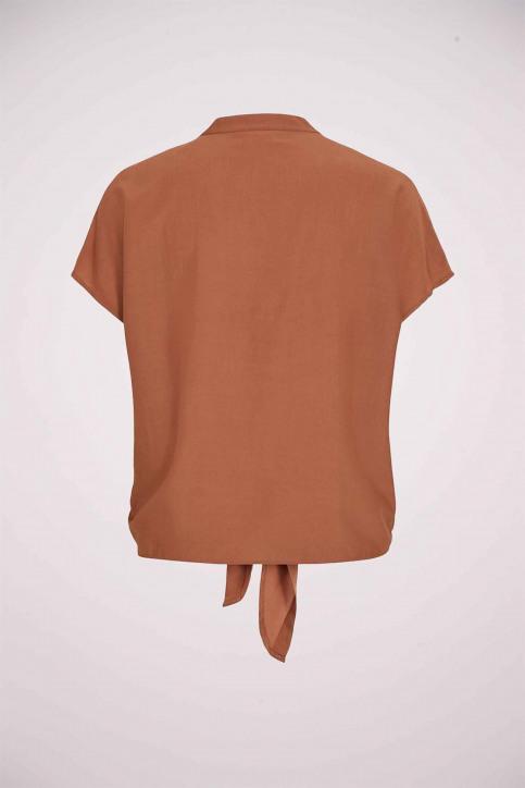 VILA Blouses (korte mouwen) bruin 14053485_RAWHIDE img4