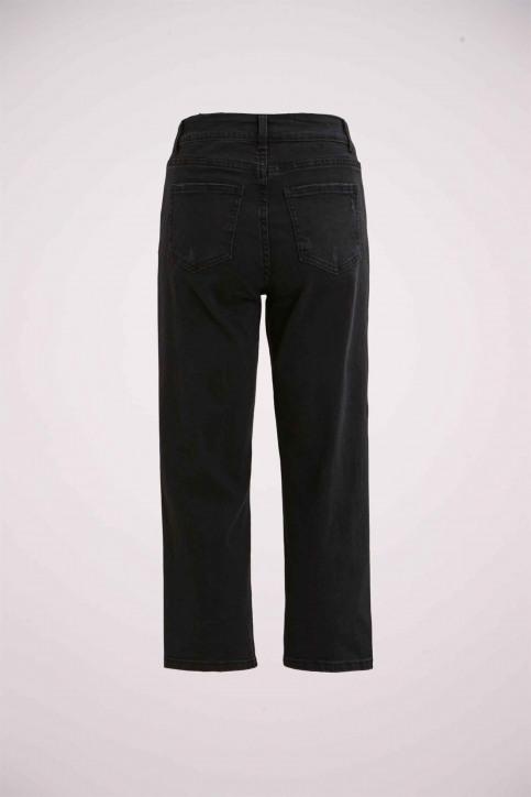 VILA® Jeans wide zwart 14053524_BLACK img4
