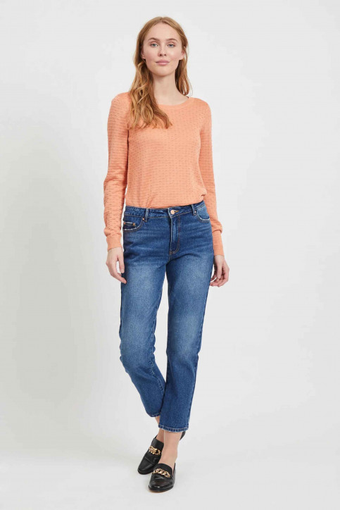 VILA Jeans 7/8 blauw 14054347_MEDIUM BL DENIM img1