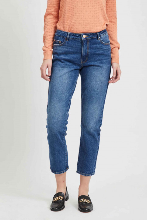 VILA Jeans 7/8 blauw 14054347_MEDIUM BL DENIM img2