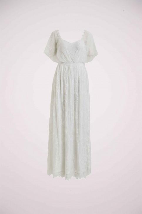 VILA Robes longues blanc 14055686_CLOUD DANCER img2